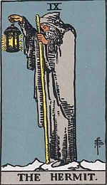 The Hermit of Rider Waite Smith Tarot cards